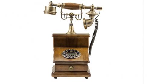Teléfono de madera digital retro BVC