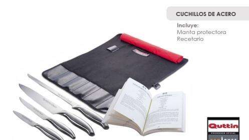 Cuchillos quttin manta y recetario descuento 60 19 - Manta para cuchillos ...