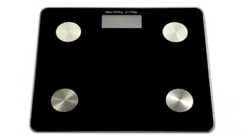 Báscula con medición de grasa corporal y Bluetooth