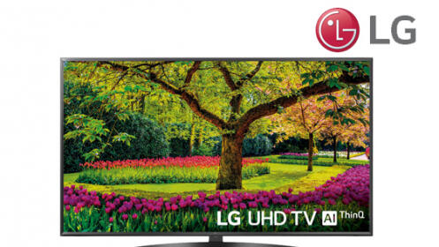 LG Ultra HD TV 4K con Inteligencia Artificial, Procesador Quad Core, 3xHDR, 55UK6400PLF