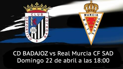Entrada Partido CD Badajoz vs Real Murcia CF SAD