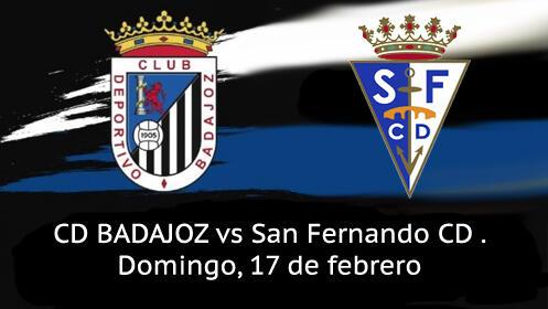 2 entradas de Tribuna Partido CD Badajoz vs  San Fernando