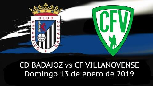 Entrada Partido CD Badajoz vs Villanovense