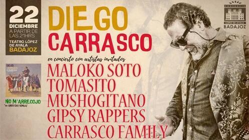 Entrada para Diego Carrasco – No M´arrecojo 50 años en familia
