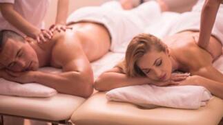 Sesión de masaje relajante en pareja, especial San Valentín