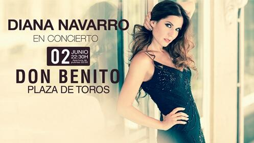 Entrada zona ruedo Diana Navarro en Don Benito