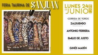 Ferias de San Juan. Corrida de toros 24 de Junio. Entrada Sol y Sombra
