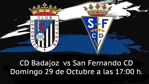 Entrada Partido CD Badajoz vs  SAN FERNANDO CD