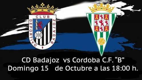 "Entrada Partido CD Badajoz vs  CÓRDOBA CF ""B"""