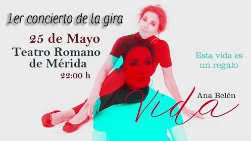 Entrada para Ana Belén, Gira VIDA en el Teatro Romano de Mérida