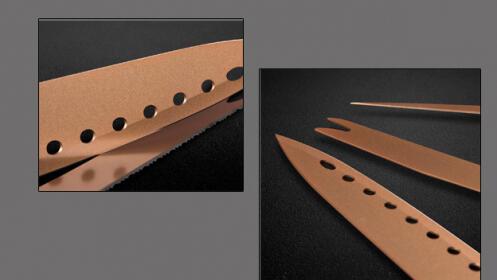 Set de 3 piezas de cuchillos de cobre